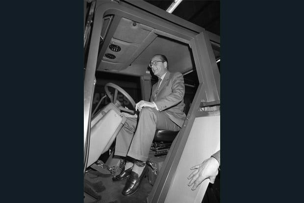 Jacques Chirac sur le tracteur