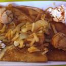 Dessert : Broceliande  - La Mont Saint-Michel ici avec 2 boules spéculos  -