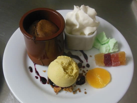 Auberge de L'Ance  - mi-cuit au chocolat -