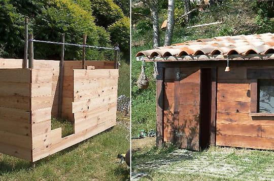 construire une cabane en bois. Black Bedroom Furniture Sets. Home Design Ideas