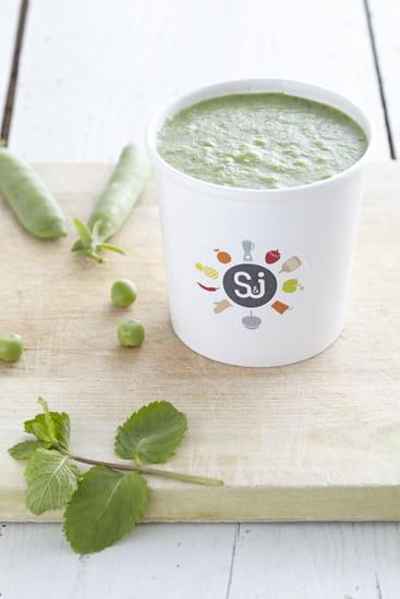Entrée : Soup & Juice  - Soupe petit pois menthe -   © md
