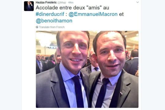 Diner du Crif: selfie Hamon - Macron, Hollande et les candidats... Les photos de la soirée