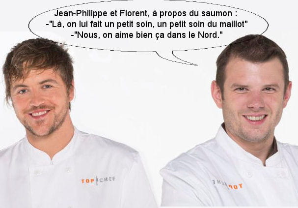 """Florent et Jean-Philippe à propos d'un saumon: """"On lui fait un petit soin du maillot"""""""