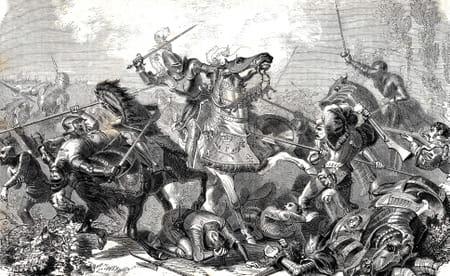 François Ier, roi de France, battu à la bataille de Pavie, le 24 Février 1525