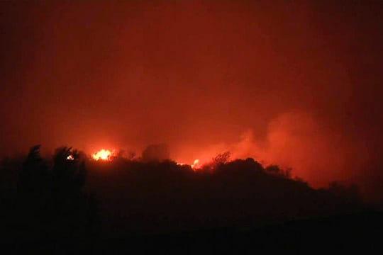 Incendie dans l'Aude, près de Tuchan : d'incroyables images