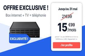 Bon plan box internet: une offre fibre, téléphone et TV à 15,99euros par mois!