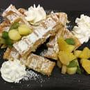 Dessert : L 'Ardoise  - gaufre aux fruits frais -   © L'ARDOISE LR