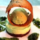 Auberge Napoleon  - mousse menthe, gateau chocolat, glace pistache, petits pois confits -