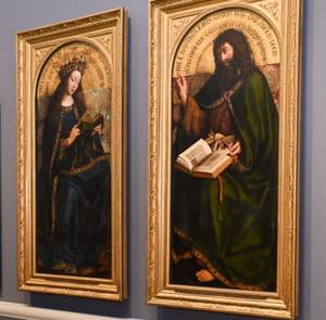 Jan Van Eyck - Représentations de la Vierge Marie et de Jean le Baptiste - L'Agneau mystique