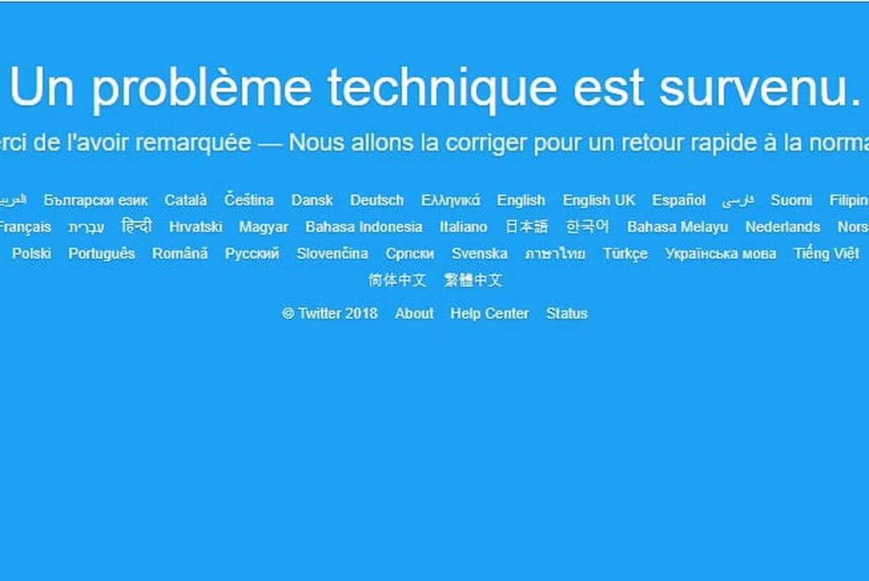 Le réseau social, Twitter inaccessible