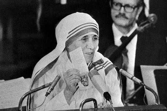 Prix Nobel de la paix pour Mère Teresa