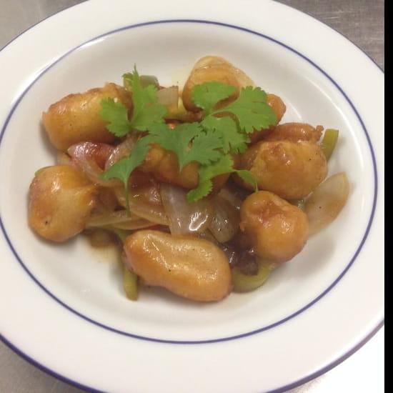 Plat : Restaurant Soleil d'Asie  - Beignet de crevette a la sauce aigre douce  -