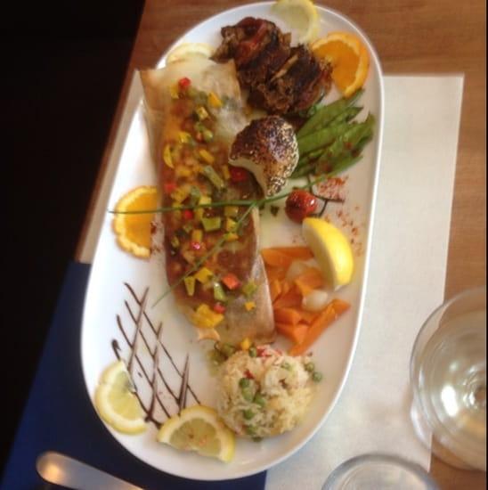 Plat : Le Bar Restaurant de la Plage  - Croustillant de Lavaret -