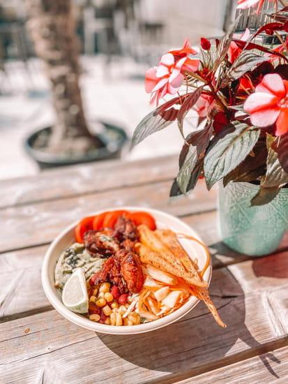 Plat : Healthy Café  - Bowl mexicain au poulet -   © Healthy café
