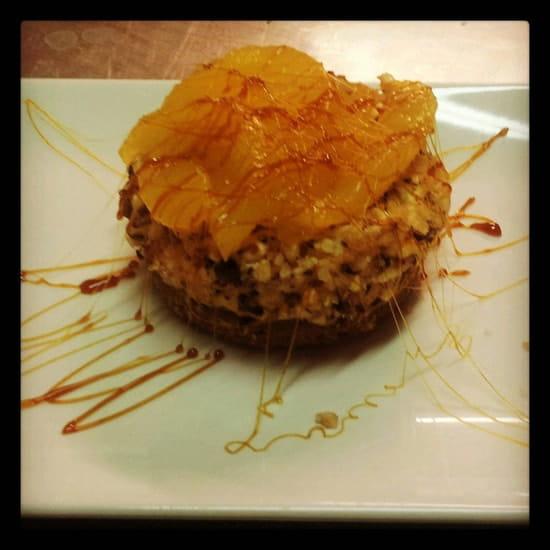 Dessert : La Cookinière  - Bavarois caramel beurre salé et poires -