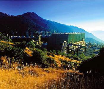 le nord de la californie se réchauffe via le coeur terrestre.