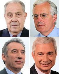charles pasqua, michel barnier, françois bayrou, claude bartolone