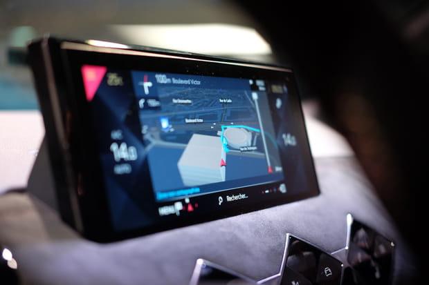 La navigation sur l'écran tactile