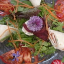 Aux Saveurs des Jardins  - Rouleau de truite fumé en salade -