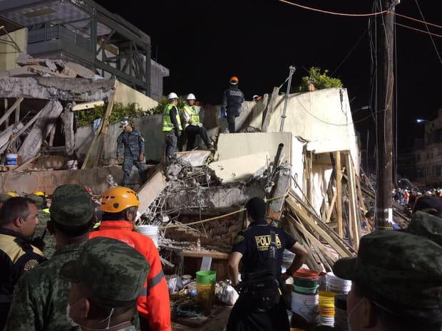 Les images choc du séisme à Mexico