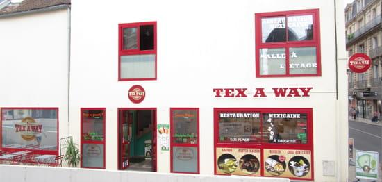 """Restaurant : Tex A Way  - Votre TEX A WAY vous accueille sur deux étages et dispose d'une terrasse pour vous restaurer sur place. Il est également prendre à emporter ou vous faire livrer. Nous vous proposons d'effectuer des réservations de tables, la privatisation de la salle complète pour un évènement, et proposons nos services pour des services traiteur """"sur demande"""". -   © #TEXAWAYOFLIFE"""