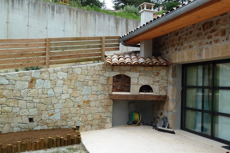 Une terrasse en b ton empreinte - Terrasse beton empreinte bois ...