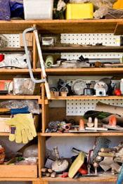 le garage, un espace de rangement à exploiter au maximum.