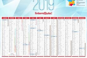 Calendrier 2019: calendrier gratuit à télécharger et agendas originaux