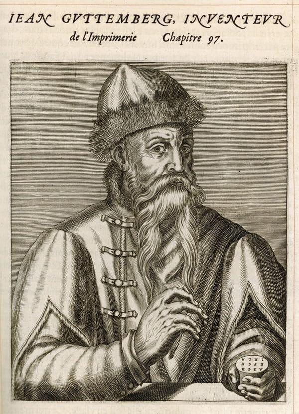 Johannes Gutenberg, inventeur des caractères mobiles d'imprimerie