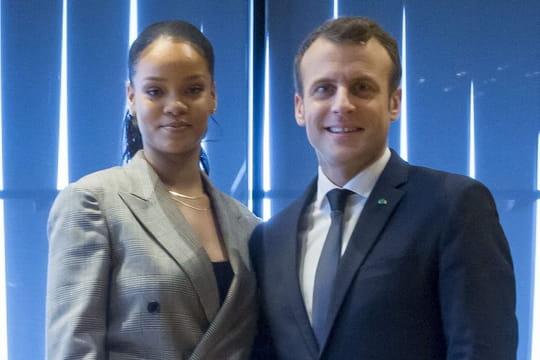 Rihanna: une nouvelle fois conquise par Emmanuel Macron