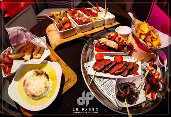 Plat : Le Paseo - Cocktail club & restaurant (Ex : LE SUD)  - Mix tapas -   © Le Paseo - Cocktail club