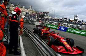 """F1: Charles Leclerc en pole position de """"son"""" Grand Prix à Monaco mais sa Ferrari accidentée"""