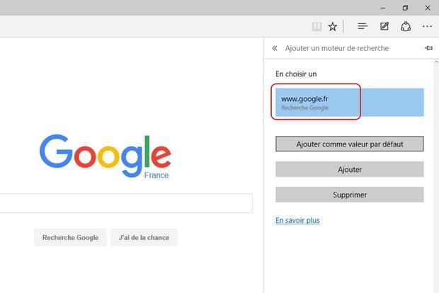 Remplacez Bing Par Google Dans Le Navigateur Edge