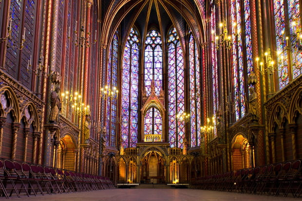 19e : La Sainte-Chapelle, Paris