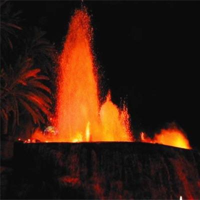 les éruptions effusives sont caractéristiques des volcans rouges.