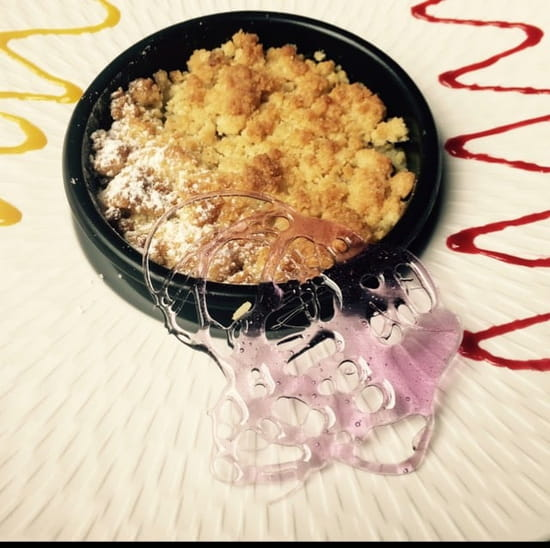 Dessert : Le Patio  - crumble pomme kiwi -