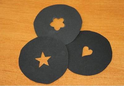 voici 3 exemples de filtres fabriqués à la main.