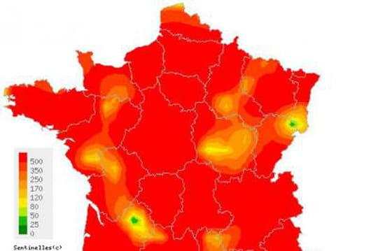 Leszones etrégions lesplus touchées par la grippe [CARTE]