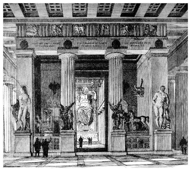 La Statue de Zeus à Olympie (Merveille du monde antique)