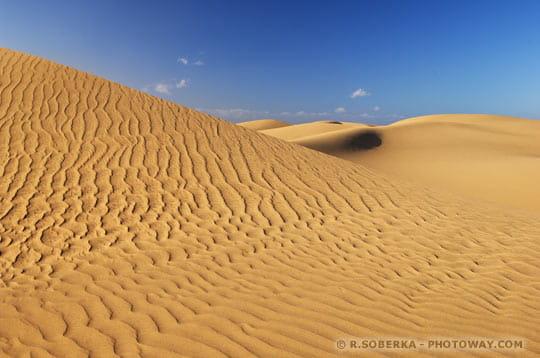 Deformation du sable
