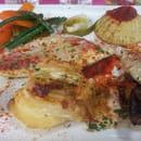 Plat : L'Assiette Amoureuse  - Filet de rouget et ses petits légumes  -
