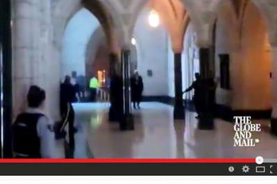 Fusillade au Parlement canadien: lavidéo de l'assaut de la police