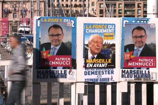 Sondages municipales àMarseille: Gaudin etMennucci aucoude àcoude #mun13000