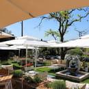 Restaurant : Le Mas des Géraniums  - Espace jardin -   © MG