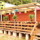 Restaurant La Plage du Rousset  - Terrasse colorée et accueillante -