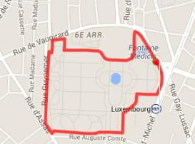 Paris : Jardin du Luxembourg (2,13km)