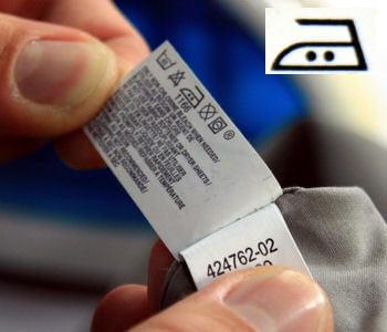 respectez la consigne de température sur l'étiquette