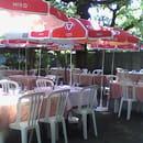 Restaurant : RELAIS DE LA BELLE AURORE  - terrasse ombragée -   © 11111