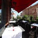 Restaurant : Restaurant du Théâtre  - Notre terrasse avec vue sur le Théâtre municipal de Colmar -   © Le Théâtre