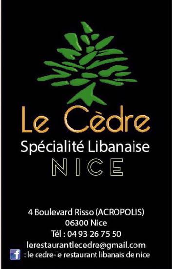 Restaurant : Le Cèdre  - Le Cedre restaurant libanais a Nice -   © le cedre